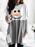 LADIES SNOWMAN SMILEY CARROT NOSE PRINT SWEATSHIRT