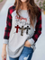 WOMEN'S CHRISTMAS BEGINS WITH CHRIST CROSS PRINT T-SHIRT