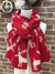 REINDEER CHRISTMAS LONG KNITTED SCARF