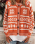 Holiday Geometric Print Casual Cardigan