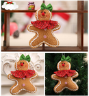 Christmas cloth gingerbread man doll pendant