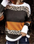Leopard Print Patchwork Striped T-Shirt