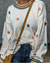Colorful Star Embroider Decorated Casual Sweater