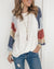 Crew Neck Watercolor Balloon Sleeve Sweatshirt