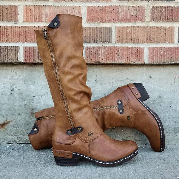 【50% OFF Flash Sale💝】Women's Cowboy Knee Boots Punk Boots  [Flash Sale⭐ Factory Outlet]