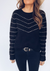BLACK AND GOLD LOUISA SWEATER