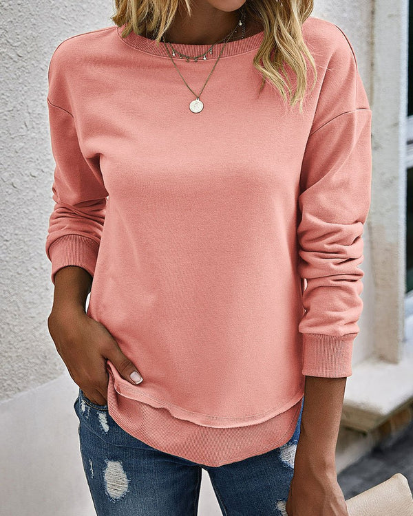 Crew Neck Vintage Casual Top (5 Colors)