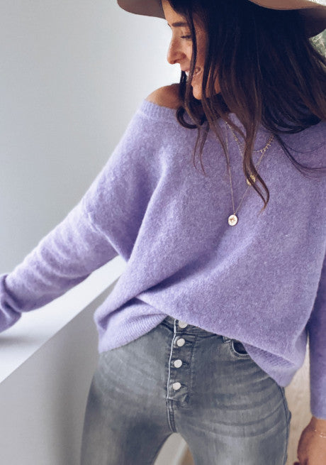 LAVENDER MARGAUX SWEATER
