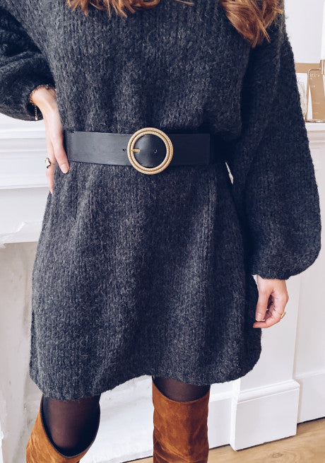 DARK GRAY LUCIA SWEATER DRESS