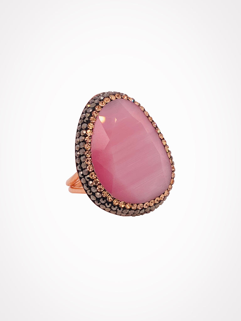 Double Gemstone Ring