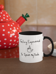 Feeling Empowered (Bl/Wh) Mug