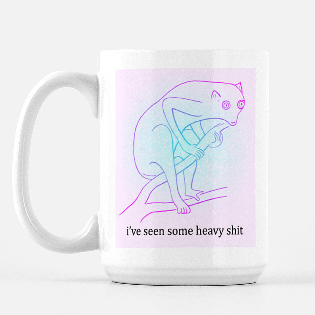 Intense Lemur Mug - 15 oz