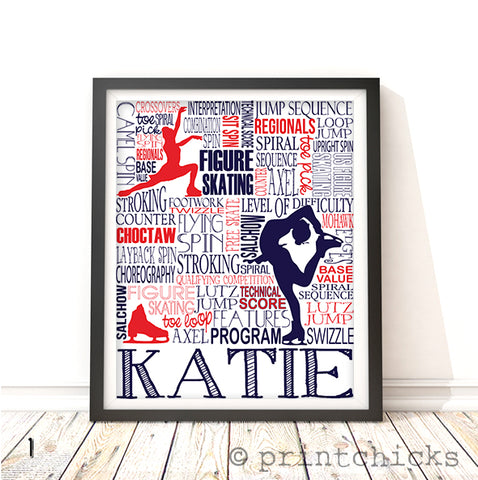 Figure Skating Personalized Print - PrintChicks