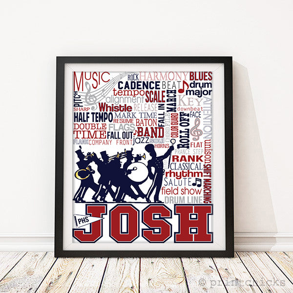 Marching Band Decor Band Poster Personalized Band