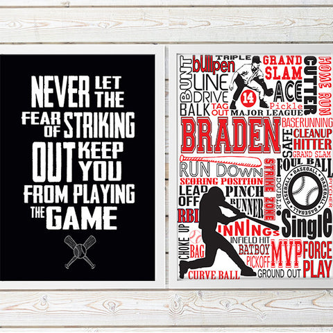 baseball custom decor