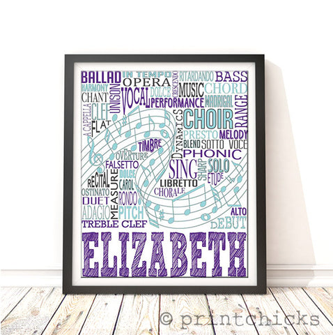 choir personalized print