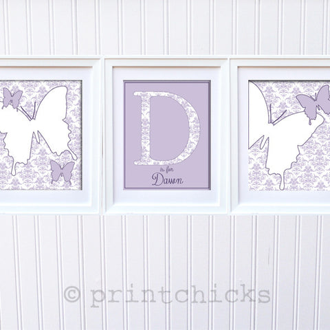 Damask Butterfly Custom Print Set - PrintChicks