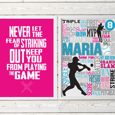 girls softball decor