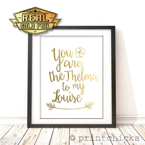 friendship gold foil print