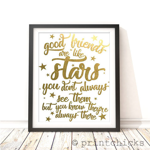 Gold foil decor