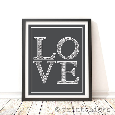 Love Typography Print - PrintChicks