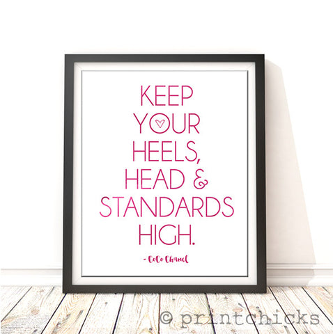 High Standards Foil Print - PrintChicks