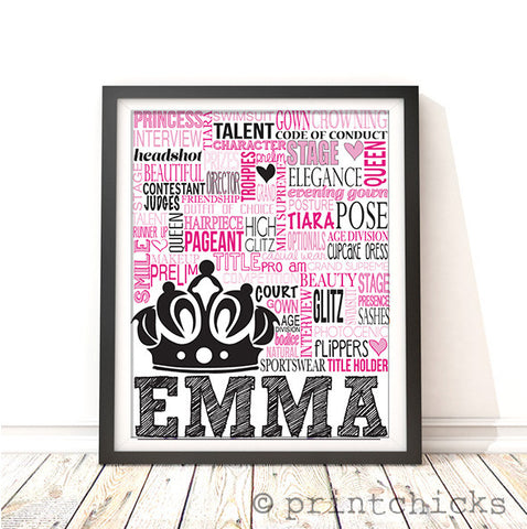 custom beauty pageant gift