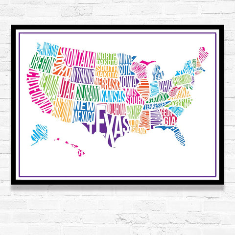 USA Custom Map Print - PrintChicks