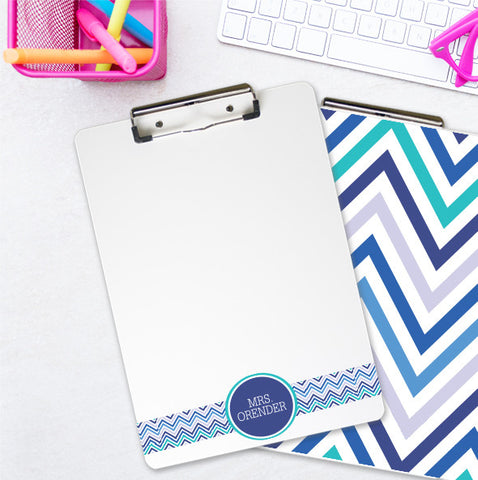 Double-Sided Chevron Personalized Teacher Clipboard - PrintChicks
