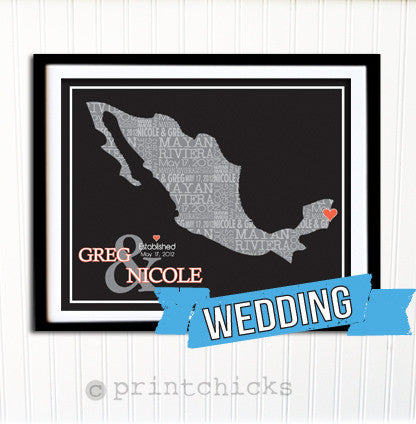 Personalized Map Print - PrintChicks