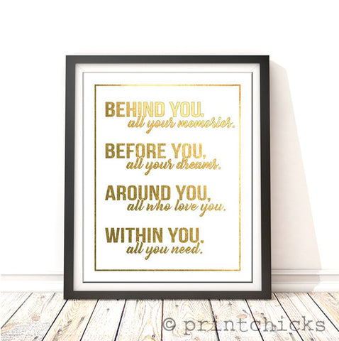 Within You Graduation Foil Print - PrintChicks