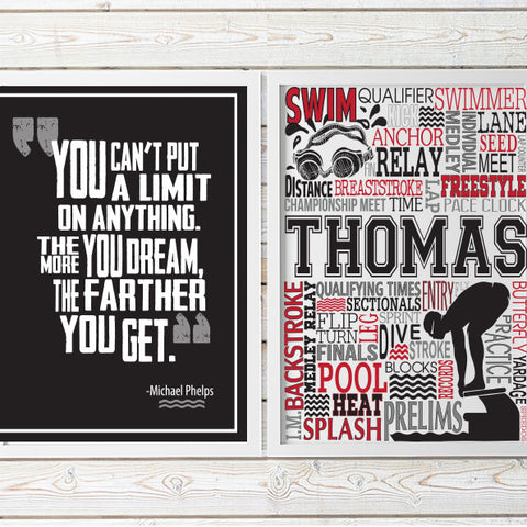 Swim Typography & Quote Print - PrintChicks