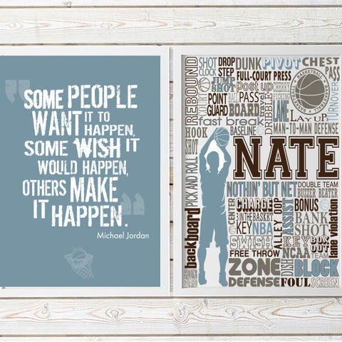 motivational basketball quote decor