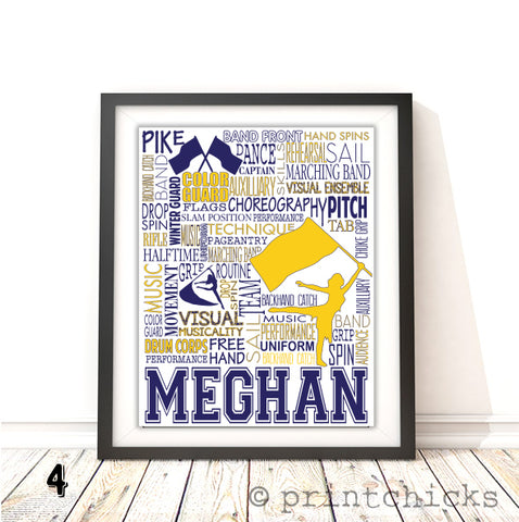 Color Guard Personalized Print - PrintChicks