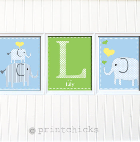 Elephant Nursery Print Set - PrintChicks