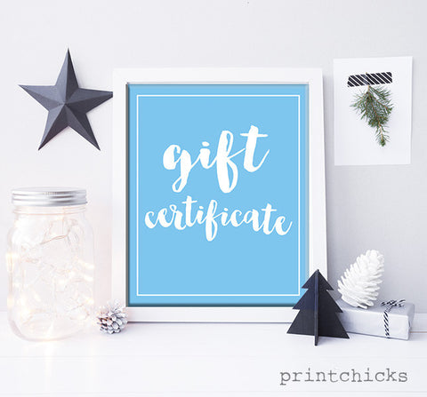 PrintChicks Gift Card