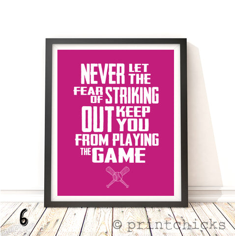 Baseball Quote Print - PrintChicks