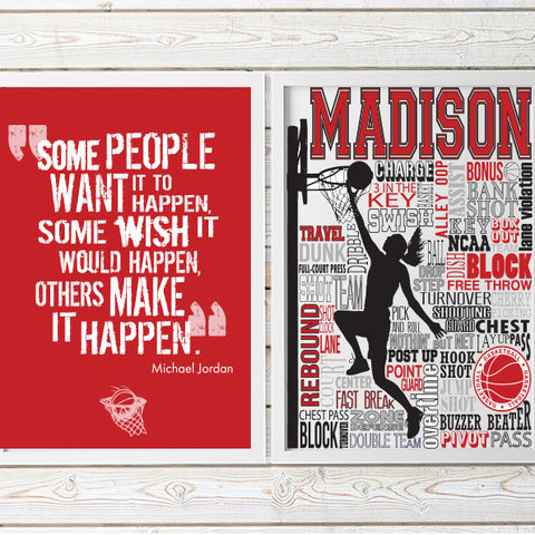 Basketball Typography & Quote Print Set- PrintChicks