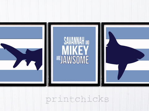Shark Decor Print Set - PrintChicks