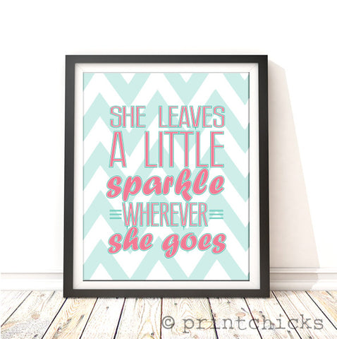 Sparkle Girls Decor Chevron Print - PrintChicks