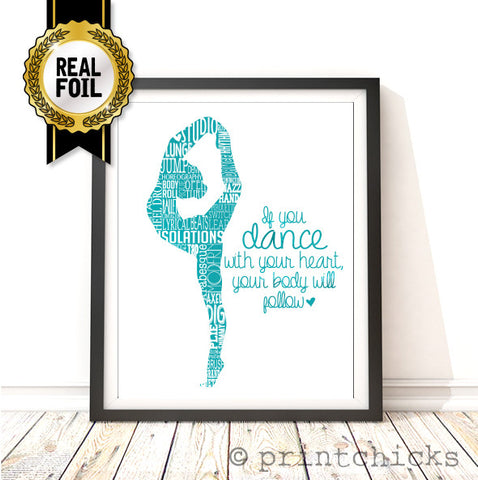 Dance Sillhouette Personalized Print - PrintChicks