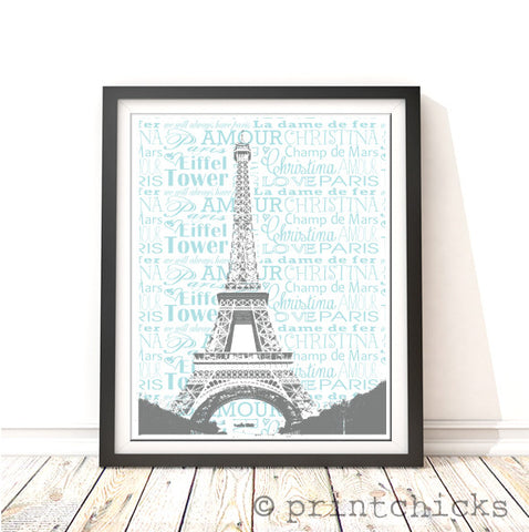 Paris Personalized Print - PrintChicks