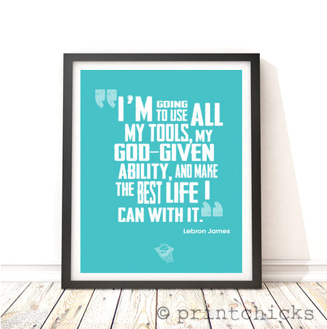 Basketball Quote Print - PrintChicks