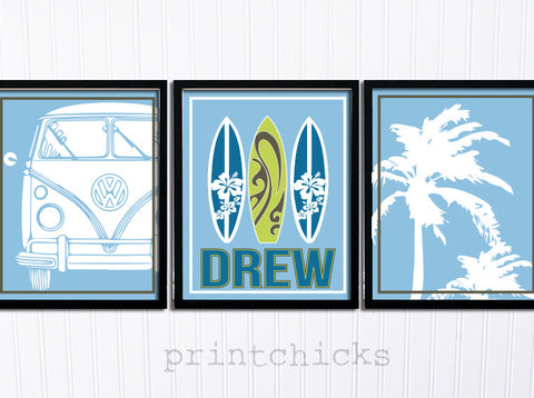 Surf Nursery Print Set- PrintChicks