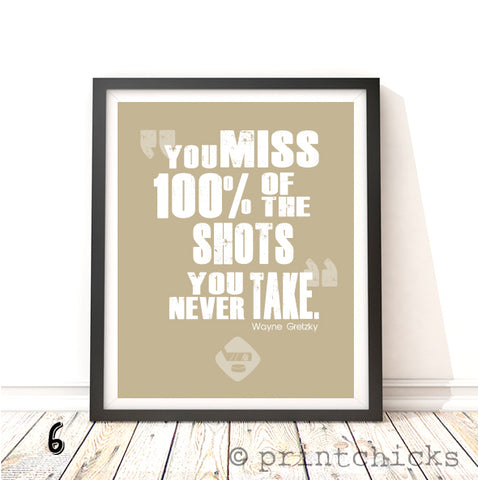 Hockey Quote Personalized Print - PrintChicks