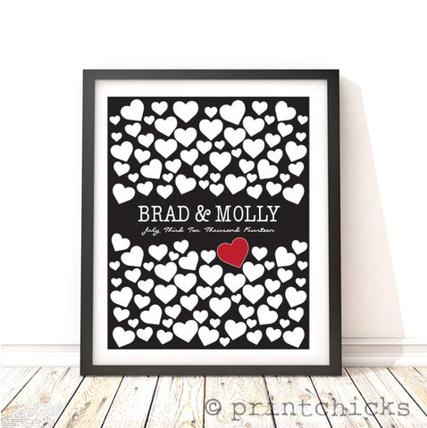 Wedding Signature Personalized Print - PrintChicks