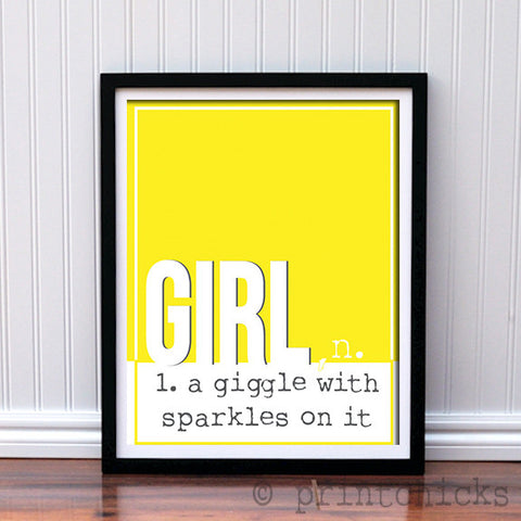 Girl with Sparkles Custom Print - PrintChicks
