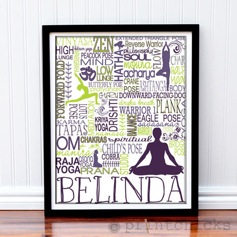 Yoga Personalized Print - PrintChicks