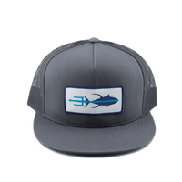 Tuna Trident Hat - Grey - Front
