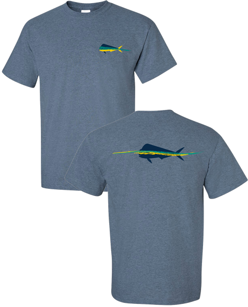 Dorado Paint T Shirt - Heather Indigo